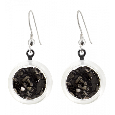 Cachou Paillettes - Hook earrings Black