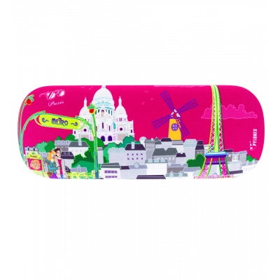 Hard glasses case - Beau Regard Paris rose