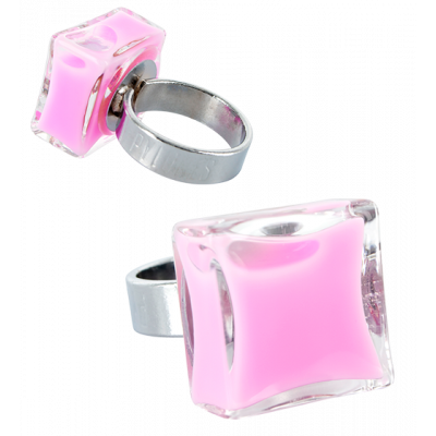 Carre Mini Milk - Glass ring Bubble Gum