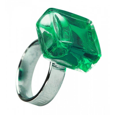 Carre Mini Transparent - Anello in vetro Verde scuro