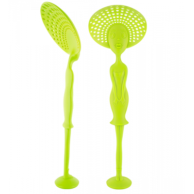 Miss Des Ecumes - Slotted spoon Light Green