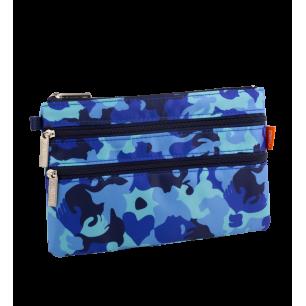 Täschchen mit 3 Reißverschlüssen - Zip It Camouflage Camouflage Blue