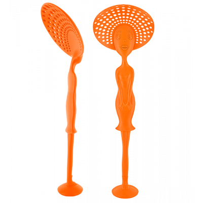 Miss Des Ecumes - Slotted spoon Orange