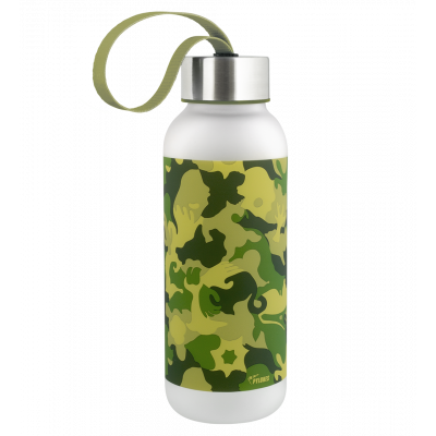 Flask - Happyglou small Adults Camouflage Camouflage Green