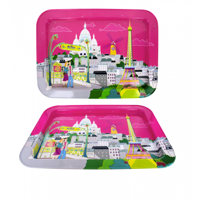 Serviertablett - Nice Tray Paris rose