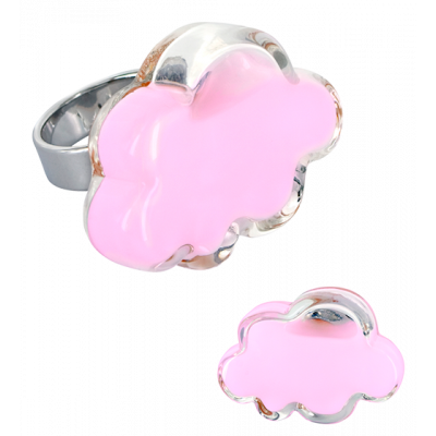 Anello in vetro - Nuage Medium Milk Bubble Gum