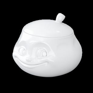 Sucrier en porcelaine - Emotion Blanc