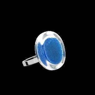 Anello in vetro - Cachou Nano Billes Blu reale