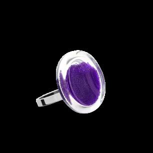 Anello in vetro - Cachou Nano Billes Viola