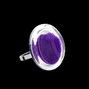 Glass ring - Cachou Mini Billes Purple