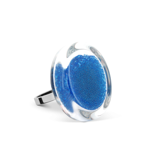 Glass ring - Cachou Mini Billes Royal blue