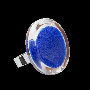 Glass ring - Cachou Medium Billes Dark Blue