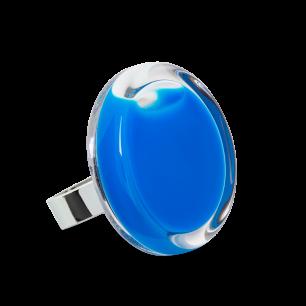 Glasring - Cachou Medium Milk Königsblau