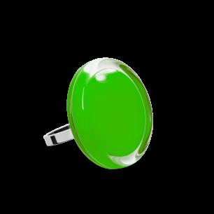 Bague en verre soufflée - Cachou Mini Milk Vert foncé
