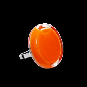 Bague en verre soufflée - Cachou Mini Milk Orange