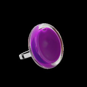 Bague en verre soufflée - Cachou Mini Milk Violet