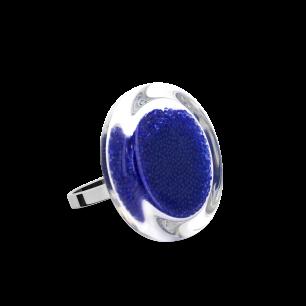 Glass ring - Cachou Mini Billes Dark Blue