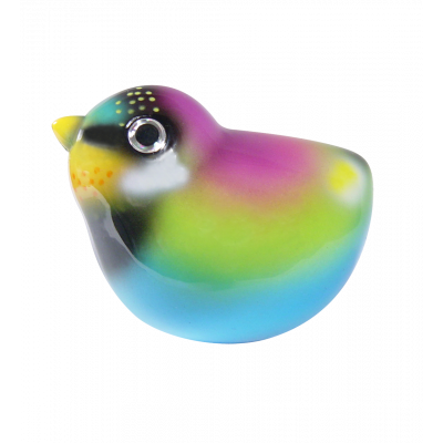 Magnetic bird for paperclips - Piu Piu Purple