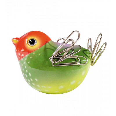 Magnetic bird for paperclips - Piu Piu Orange