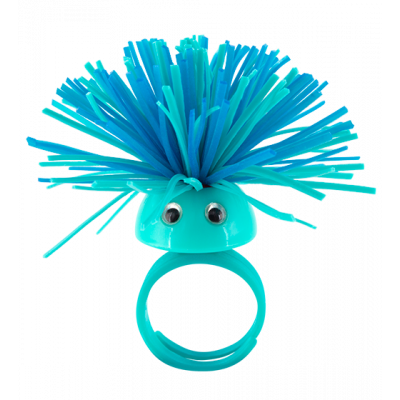 Pom Pom Girl Medium - Bague Bleu