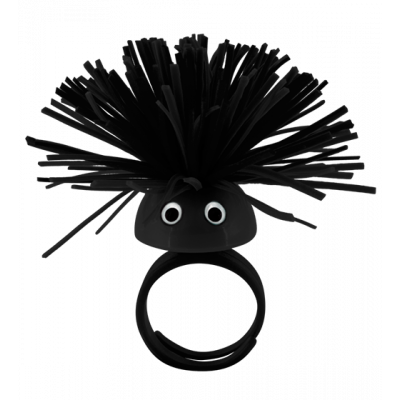 Pom Pom Girl Medium - Bague Noir