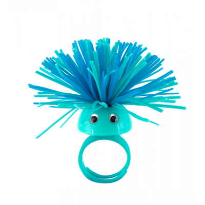 Ring - Pom Pom Girl Small Blau