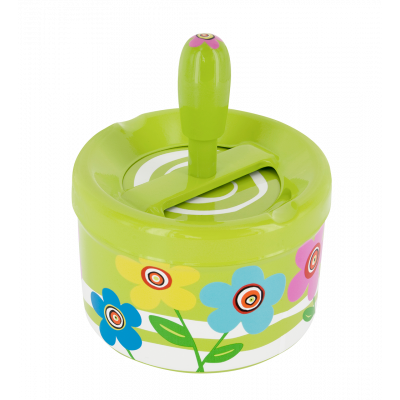 Push-button ashtray - Pousse Pousse Green Spring