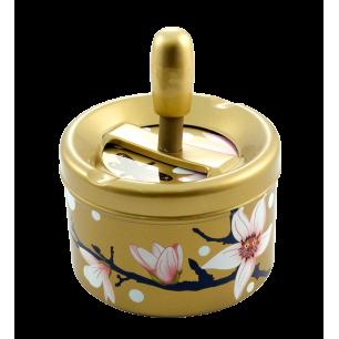 Push-button ashtray - Pousse Pousse Magnolia