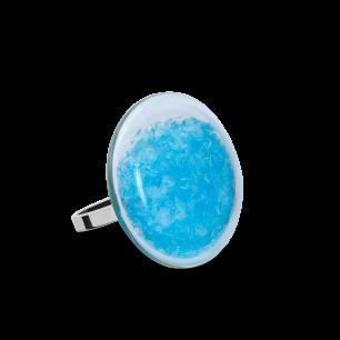 Glasring - Galet Mini Paillettes Colors Hellblau
