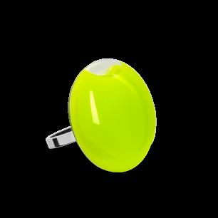 Anello in vetro - Galet Mini Milk Verde Chiaro