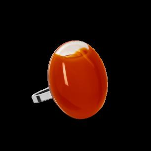 Anello in vetro - Galet Mini Milk Ruggine