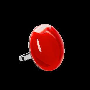 Anello in vetro - Galet Mini Milk Rosso chiaro