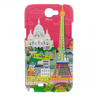 Coque pour Samsung N2 - Sam Cover N2 Paris rose