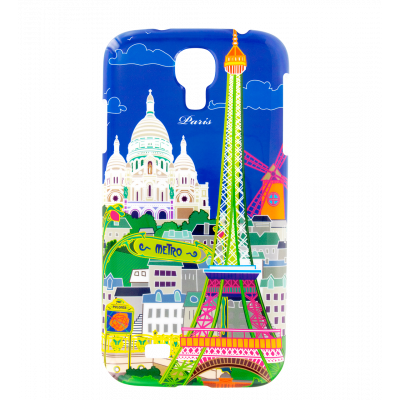 Sam Cover S4 - Case for Samsung S4 Paris Bleu