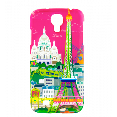 Sam Cover S4 - Cover per Samsung S4 Paris rose