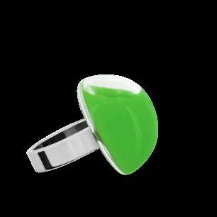 Anello in vetro - Dome Mini Milk Verde scuro