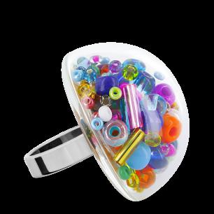 Glasring - Dome Giga Mix Perles Multicolor