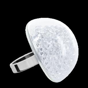 Anello in vetro - Dome Giga Billes Cristallo
