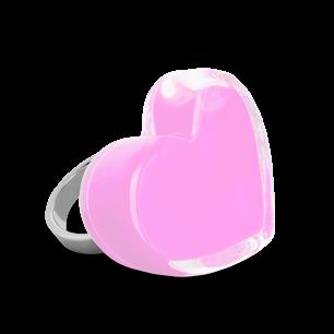 Anello in vetro - Coeur Medium Milk Bubble Gum