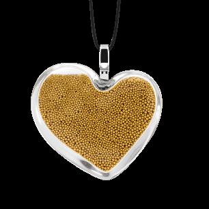 Ciondolo - Coeur Medium Billes Oro