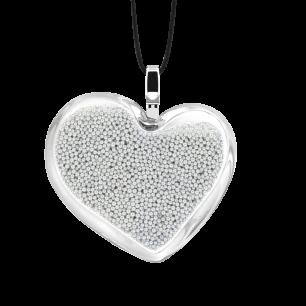 Ciondolo - Coeur Medium Billes Argento