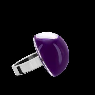 Anello in vetro - Dome Mini Milk Porpora scuro