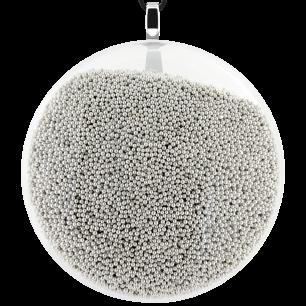 Necklace - Galet Giga Billes Silver
