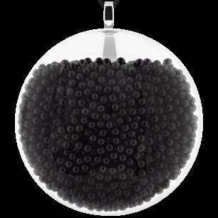 Necklace - Galet Giga Billes Black