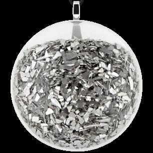 Kettenanhänger - Galet Giga Paillettes Silber