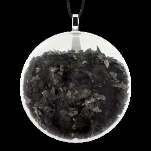 Necklace - Galet Medium Paillettes Black
