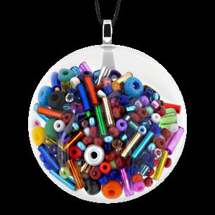 Necklace - Galet Medium Mix Perles Multicolor