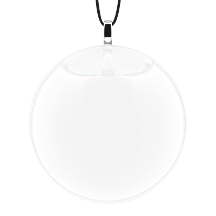 Necklace - Galet Medium Milk White