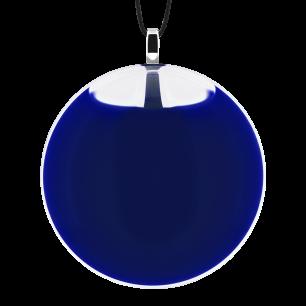 Necklace - Galet Medium Milk Dark Blue