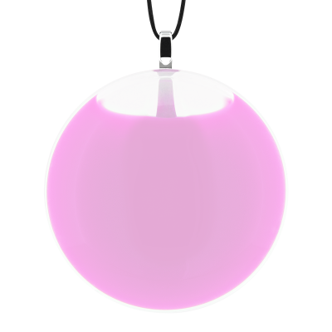 Necklace - Galet Medium Milk Bubble Gum